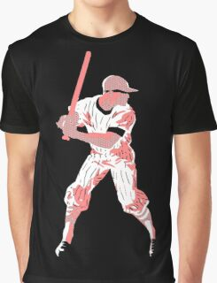 Awaiting the pitch, retro baseball pop art Graphic T-Shirt