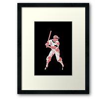 Awaiting the pitch, retro baseball pop art Framed Print