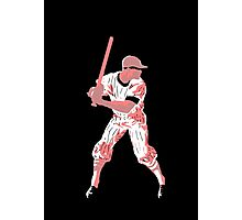 Awaiting the pitch, retro baseball pop art Photographic Print
