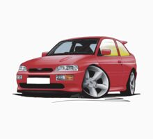 Ford Escort RS Cosworth Red by Richard Yeomans