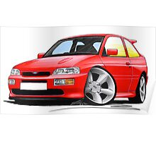 Ford Escort RS Cosworth Red Poster