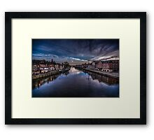 River Ouse in York Framed Print