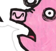 Pig top Sticker