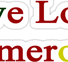 Live Love Cameroon  Sticker