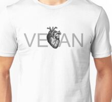 have a heart, go vegan Unisex T-Shirt