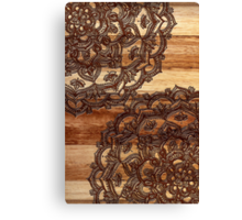 Burnt Wood Chocolate Doodle Canvas Print