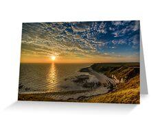 Flamborough Head Sunset  Greeting Card