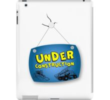 Under Construction Sign iPad Case/Skin