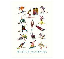 Winter Olympics Art Print