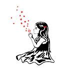 Girl Blowing Hearts (photoshop isolated) by Respire