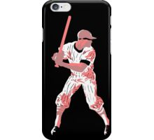 Awaiting the pitch, retro baseball pop art iPhone Case/Skin