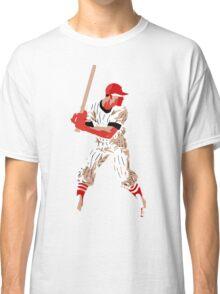 Awaiting the pitch, retro baseball pop art Classic T-Shirt
