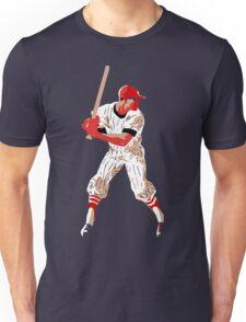 Awaiting the pitch, retro baseball pop art Unisex T-Shirt
