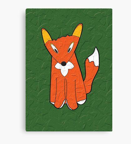 Crumpled Fox Canvas Print