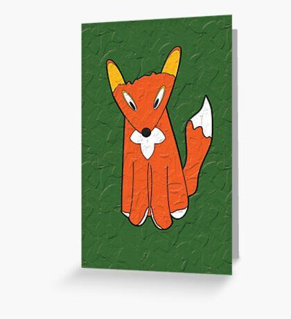 Crumpled Fox Greeting Card