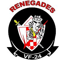 VF-24 Renegades Patch Photographic Print