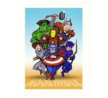 Mighty Heroes Art Print