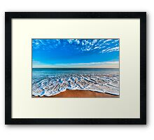 Tides Rush In Framed Print
