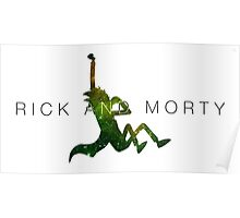 Rick and Morty - Abstract Graphic Poster