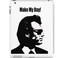 Clint Eastwood Dirty Harry Make My Day iPad Case/Skin
