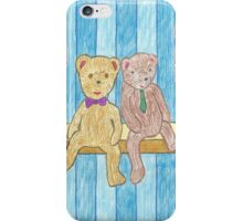 A Couple Bears on a Shelf iPhone Case/Skin