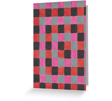 Checkered Pattern  Greeting Card