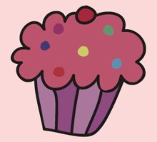 Pink Cupcake One Piece - Long Sleeve