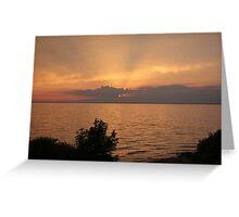 Lake Winnebago sunset. Greeting Card