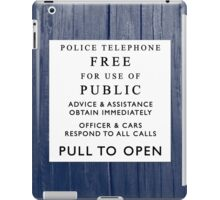 What's behind the sign? iPad Case/Skin