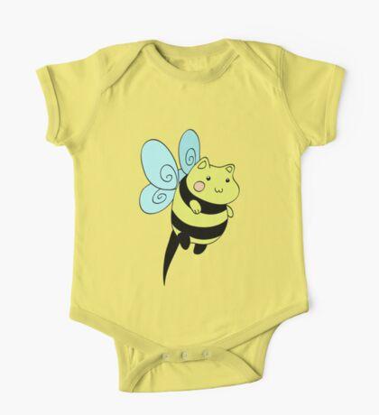 Cat Bumblebee One Piece - Short Sleeve