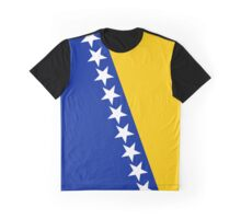 Bosnia and Herzegovina Flag Graphic T-Shirt