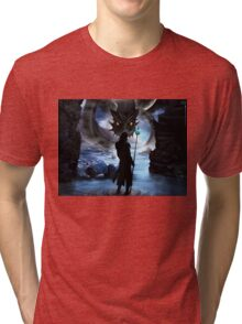 Loki and Jormungandr Tri-blend T-Shirt