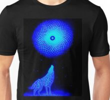 Fractal Moon Cry Unisex T-Shirt