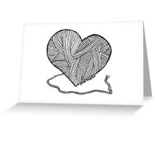Love to Knit & Crochet Greeting Card
