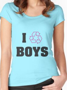 I Recycle Boys Women's Fitted Scoop T-Shirt