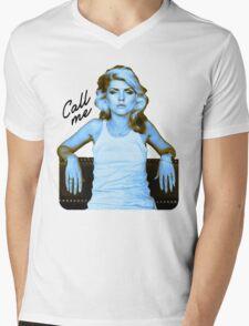 "Blondie ""Call Me"" Mens V-Neck T-Shirt"