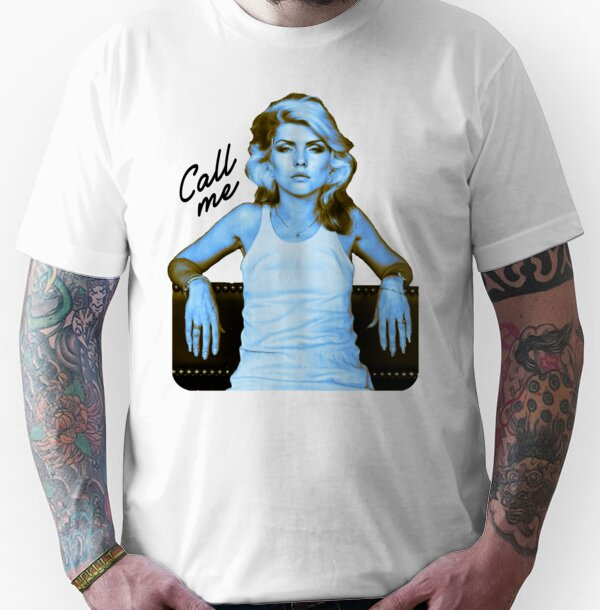 Blondie Call Me Men's or Women's Tee in Many Colors