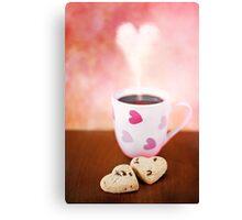 valentine biscuits.. Canvas Print
