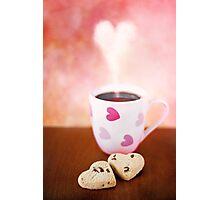 valentine biscuits.. Photographic Print