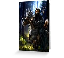 What does the wizard fox say? Greeting Card
