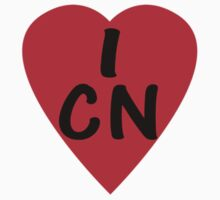I Love China - Country Code CN T-Shirt & Sticker by deanworld