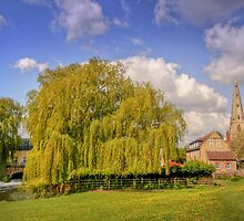 Olney Church and Mill Race by James  Key