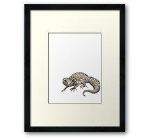 Galaxy Morph Leopard Gecko Framed Print