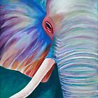 Elephant in color by Chelsea Murray