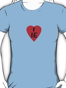 I Love Ireland - Country Code IE T-Shirt & Sticker T-Shirt