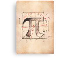 Pi Symbol Sketch Canvas Print