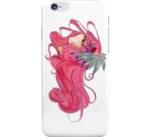 Abstract Pink Hair Design Anime Manga style Traditional Art Work  iPhone Case/Skin