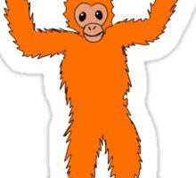Orangutan Hug Sticker