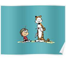 Calvin & Hobbes (dart war games edition) Poster