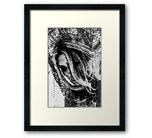 Girl... in black and white Framed Print